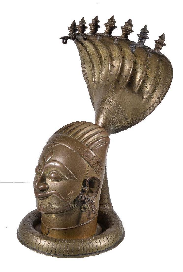 A brass lingam shrine, Western Deccan, India, circa - 2