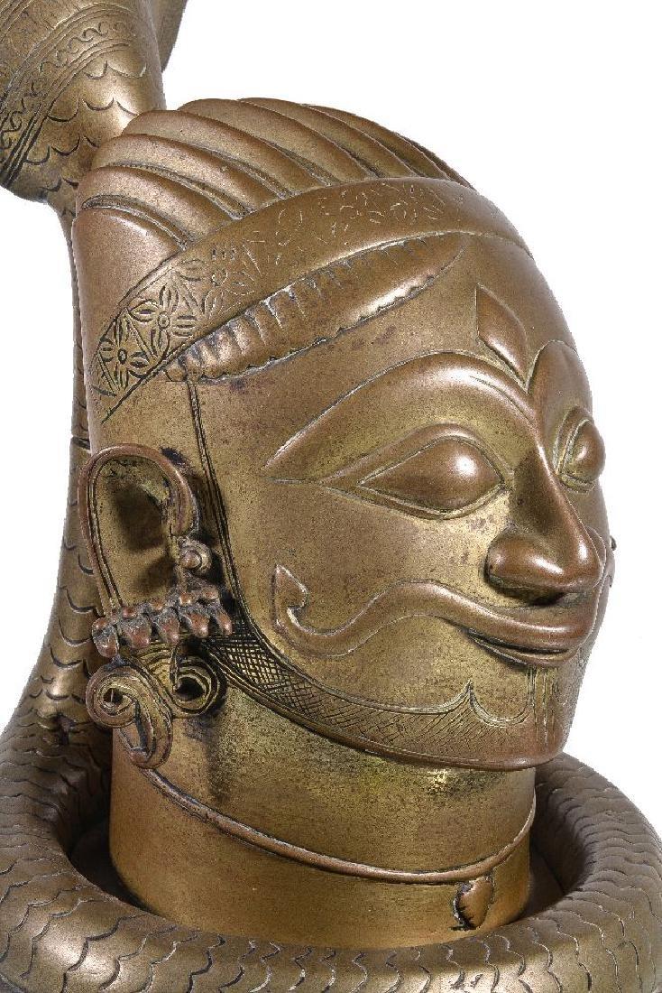 A brass lingam shrine, Western Deccan, India, circa - 3