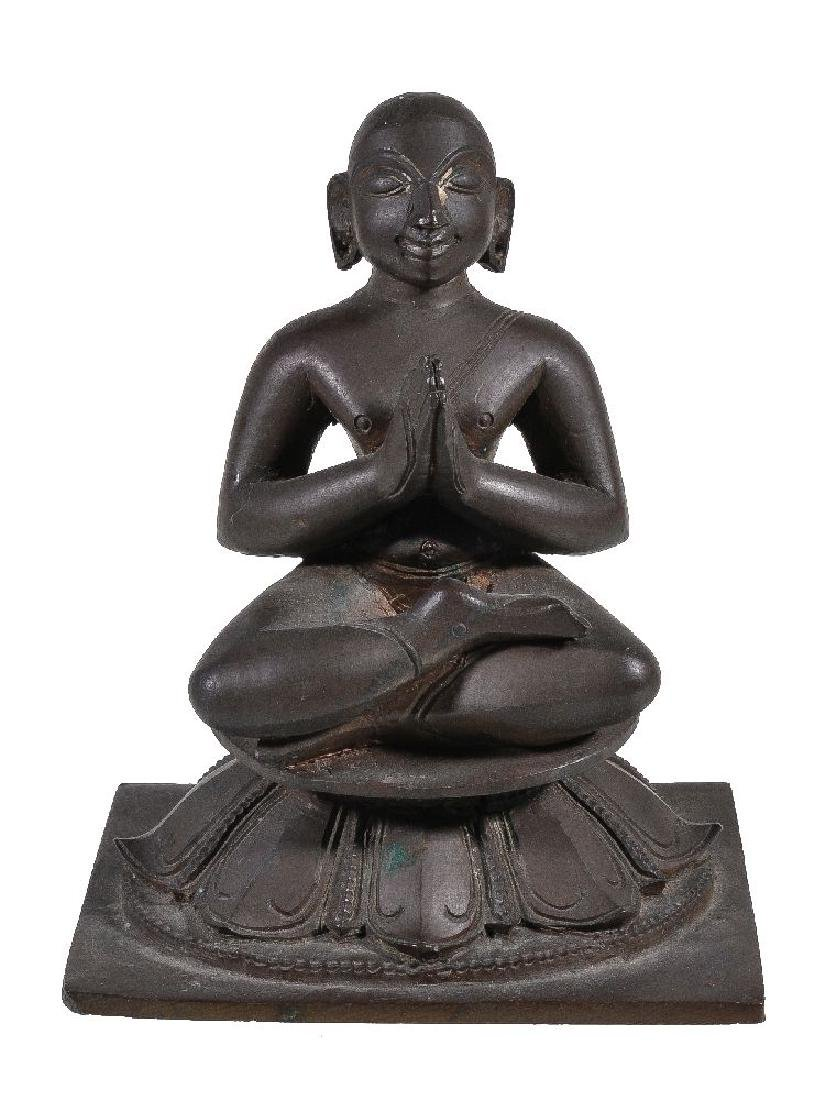 A bronze figure of a Tamil saint, probably Appar,