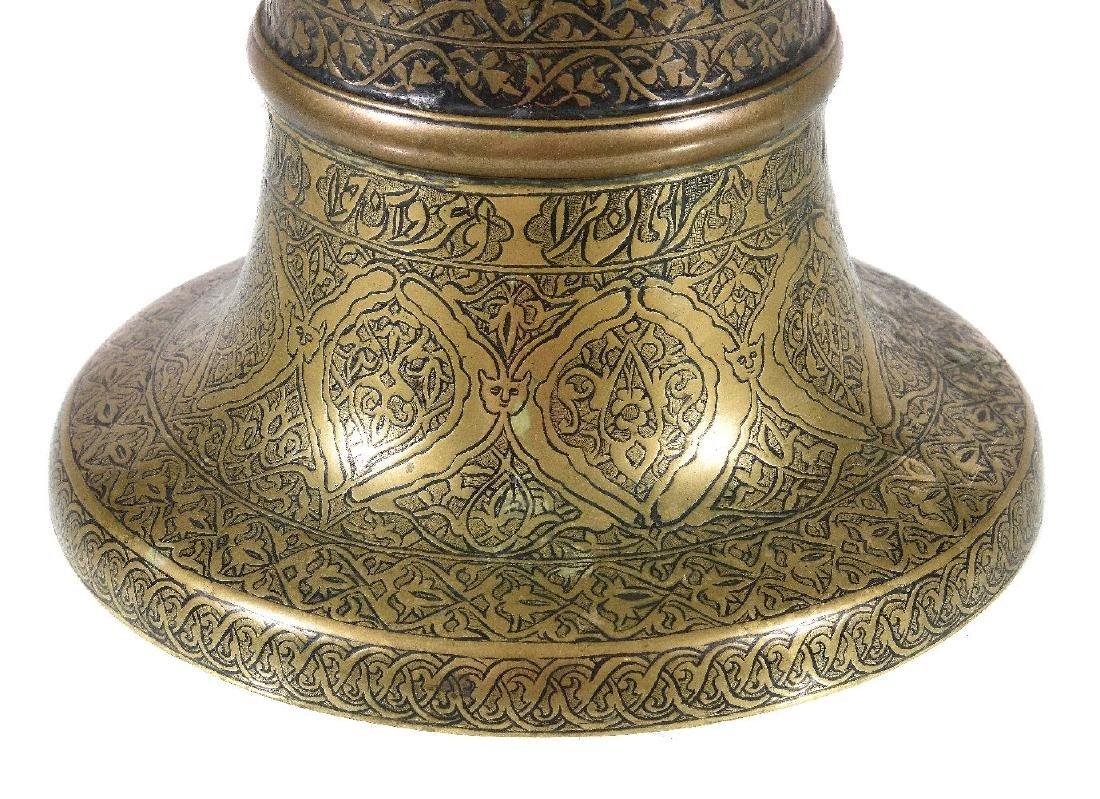 A Safavid brass candlestick - 3