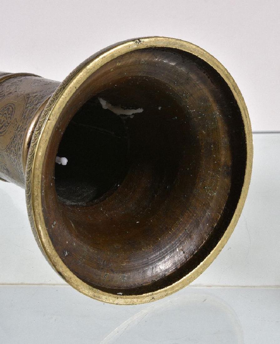 A Safavid brass candlestick - 5