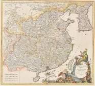 Robert de Vaugondy map of China and Korea dated
