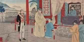 SensoE Two SinoJapanese War Woodblock Printed