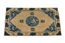 A Chinese 'Peking' wool 'Dragon' rug