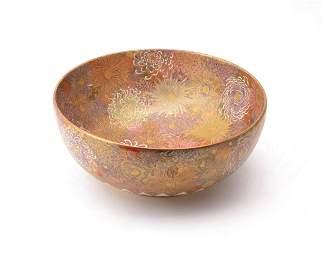 Choshuzan: A Large Satsuma Pottery Bowl of deep