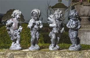 A set of four lead models emblematic of the four