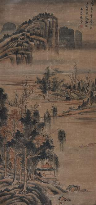 Yang Jin (1644-1728, attributed to), Riverscape