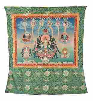 A Tibetan Thang-ka depicting Sadaksari