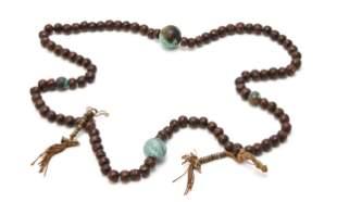 A Tibetan Buddhist prayer necklace
