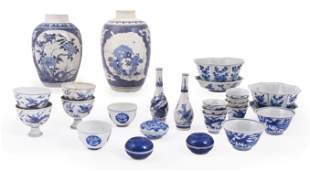 A group of Chinese 'Hatcher Cargo' blue and white