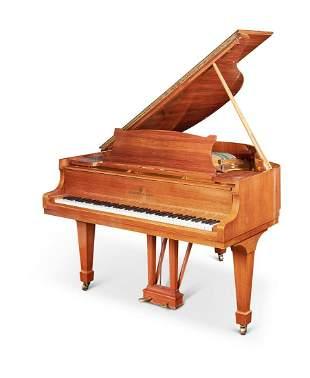 A WALNUT STEINWAY MODEL 'S' PIANO