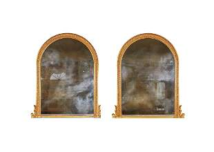 A PAIR OF VICTORIAN GILTWOOD OVERMANTEL MIRRORS, BY