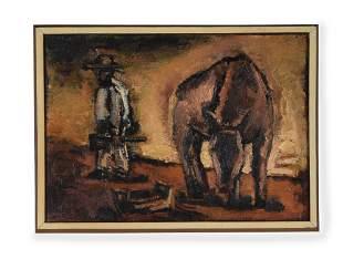 λ JOSEF HERMAN (BRITISH 1911-2000), MEXICAN SCENE