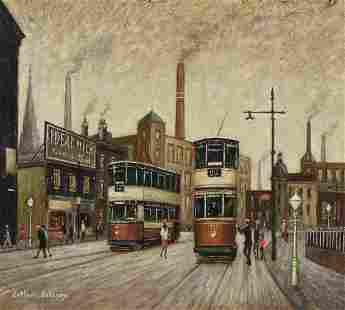 λ Arthur Delaney (British 1927-1987), Trams by the