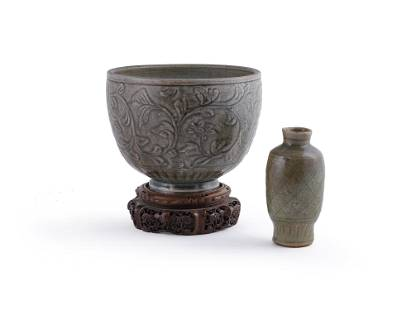 A Chinese celadon deep bowl