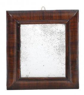 277: A Queen Anne walnut framed wall mirror, early 18th