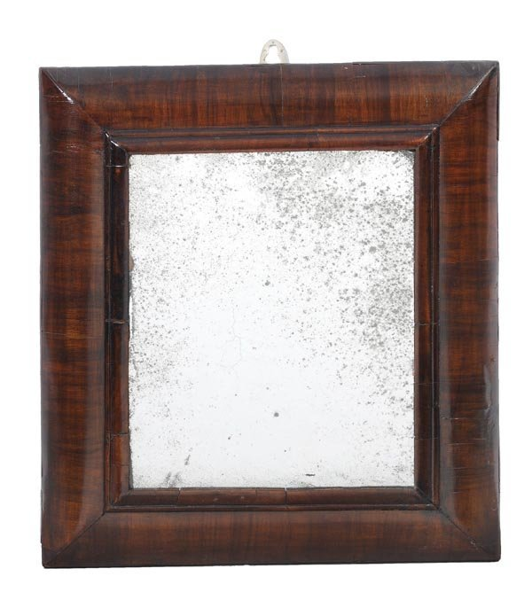 277: A Queen Anne walnut framed wall mirror, early 18th