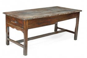 282: An oak refectory table,  late 18th/early 19th cent