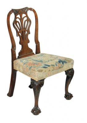 288: A George II mahogany armchair, circa 1740, cartouc