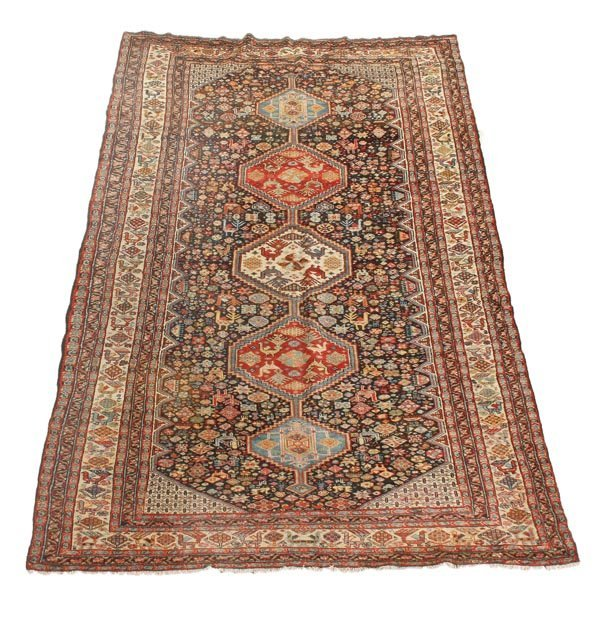 291: A Shiraz carpet, approximately 326 x 183cm