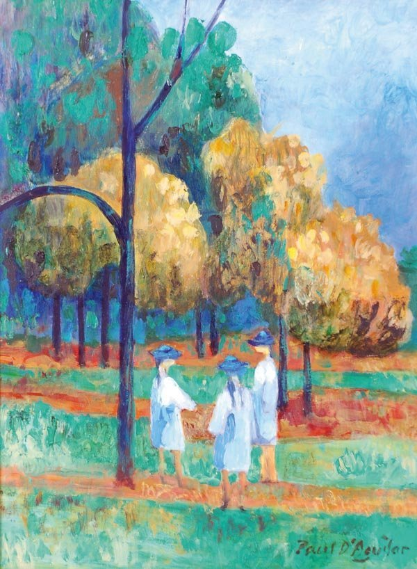 10: Paul d' Aguilar (b.1927) School girls in the park