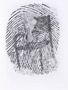 15: Paul Coldwell (b 1958) Finger print Etching, with