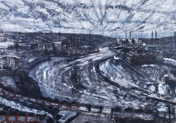 20: Edward Chell (b. 1958) View of the River Tyne; Lea