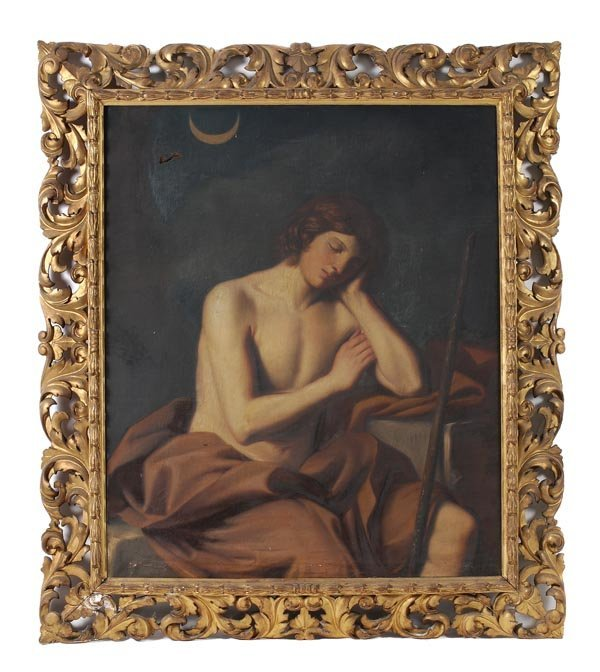 1: Manner of Guido Reni A resting boy Oil on canvas 1