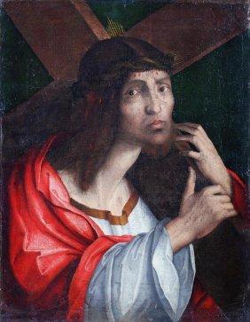 2: Venetian School (17th century) Christ carrying the