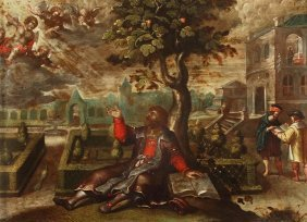 3: Flemish School (17th century) A vision of two ange