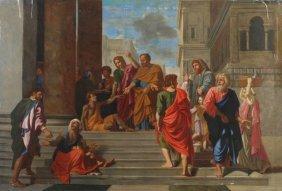 After Nicolas Poussin Saint Peter Healing A Sick M