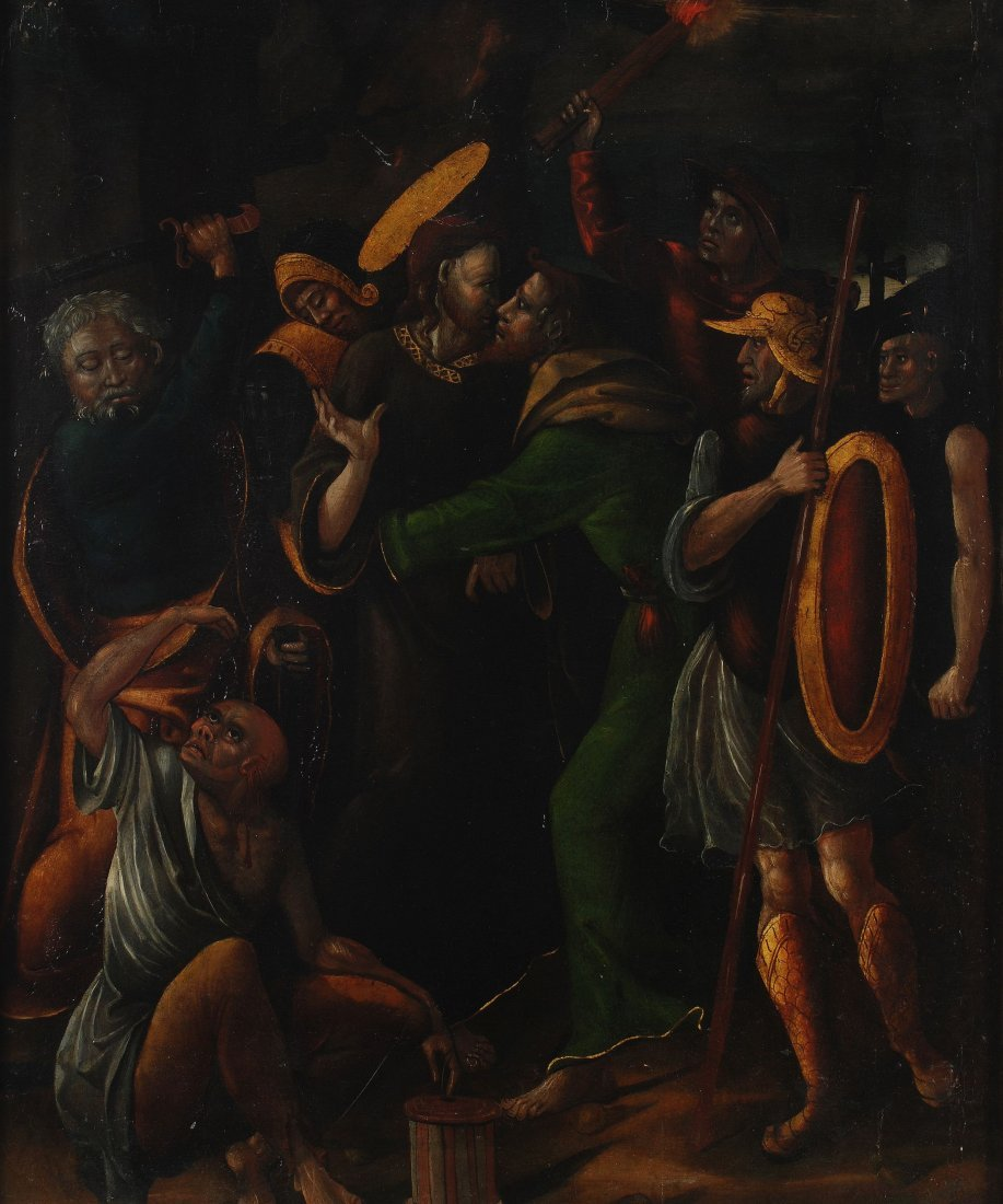 5: Spanish School (16th century) The betrayal of Chri