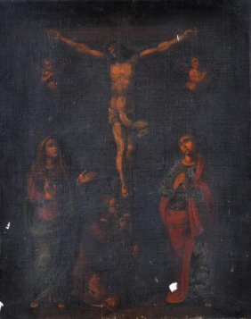 9: Italian School (18th century) The Crucifixion with