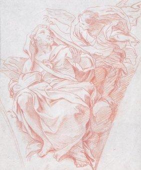 Italian School (18th Century) A Prophet And Angel