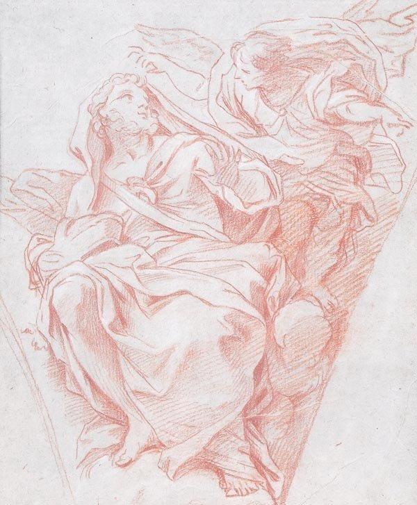 10: Italian School (18th century) A prophet and angel