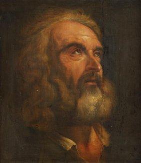 Follower Of Pietro Da Cortona  Study Of St. Peter