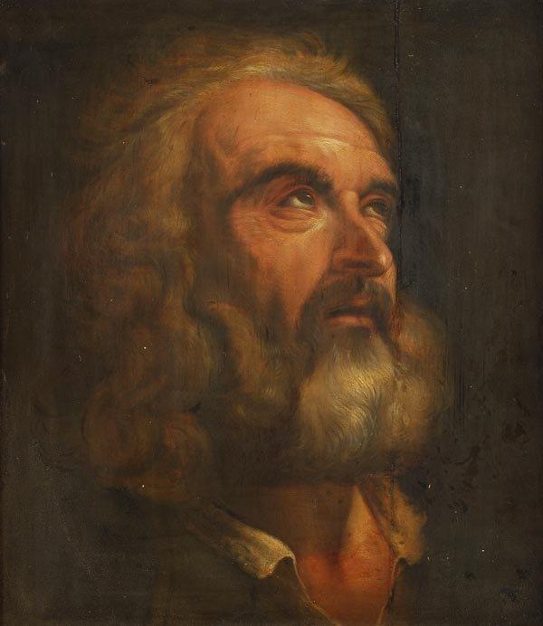 13: Follower of Pietro da Cortona  Study of St. Peter