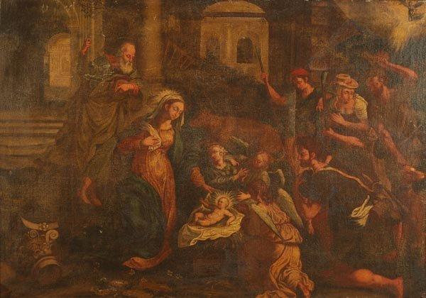 14: Venetian School (17th century) The Adoration of th