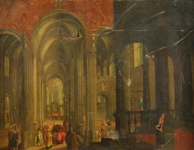 17: Dutch School (18th century) Christ and other figur