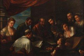 21: Follower of Francesco Bassano A musical party Oil