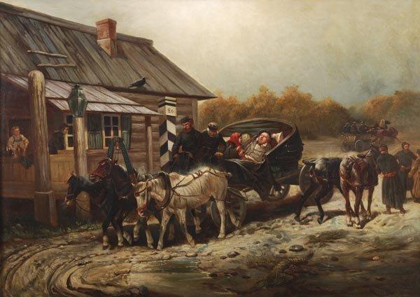 157: Nikolai Sverchkov (1817-1898) 'The Station' - Arri