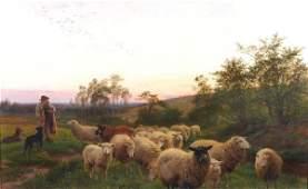 165: Henry William Banks Davis (1833-1914) Sheep and sh