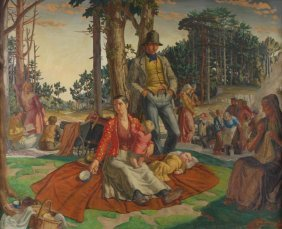 Harry Morley (1881-1943) The Picnic