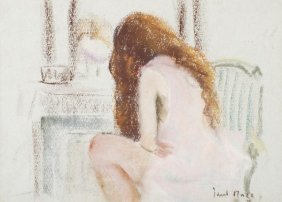 24: Paul Lucien Maze (1887-1979) A girl at her toilet
