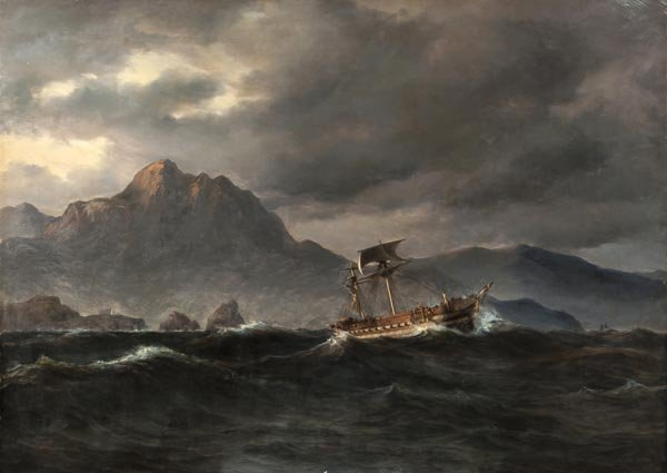 31: Daniel Hermann Anton Melbye (1818-1875) A sailing