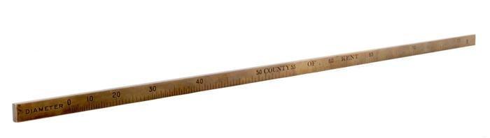 A rare brass Imperial baton capacity measure  De G