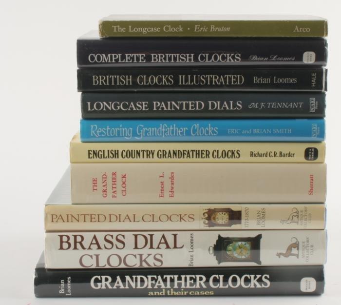 Longcase clocks -eight reference works:  Loomes, B