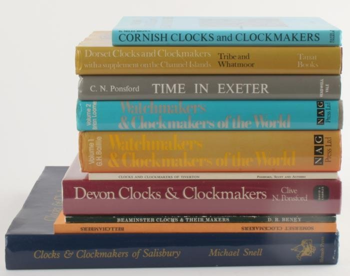 Regional clockmaking- eight publications relating