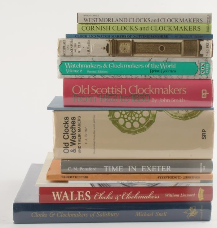 Regional clockmaking- nine volumes relating to reg
