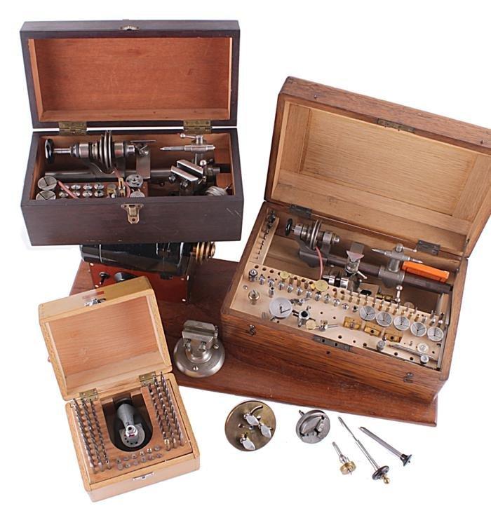 A German steel 6mm watchmaker's lathe  Lorch, Schm